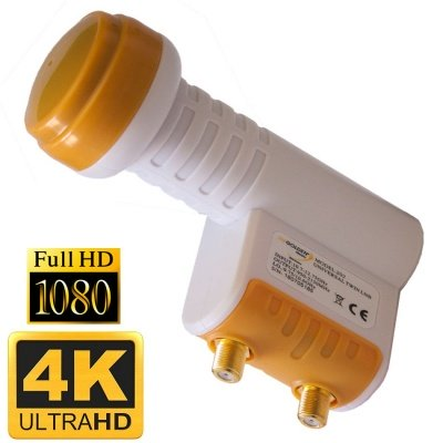 UNIVERSAL LNB TWIN 0.1 db  FULL HD GOLDEN MEDIA