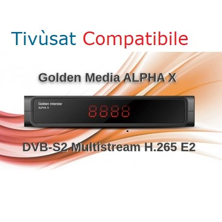 GOLDEN INTERSTAR ALPHA X Full HDTV DVB-S2X TIVUSAT COMPATIBILE