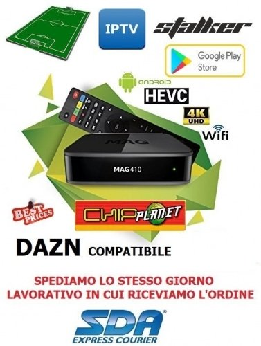 SET-TOP BOX MAG 410 ANDROID 4K H.265
