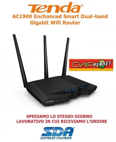 TENDA ROUTER WIRELESS DUAL BAND AC1900