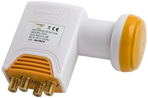UNIVERSAL LNB QUAD 0.1 DB GOLDEN MEDIA FULL HD